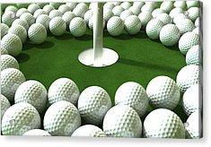 Golf Hole Assault Acrylic Print