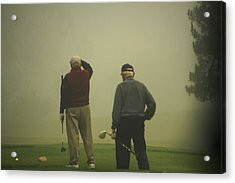 Golf In A Fog Acrylic Print