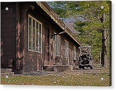 Acrylic Print featuring the painting Golf Lodge by Deborah Klubertanz