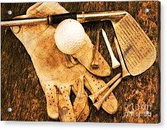 Golf Memorabilia Acrylic Print