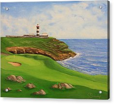 Golf Old Head Of Kinsale Acrylic Print by Jacob Browning