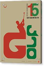 Golf Poster Acrylic Print