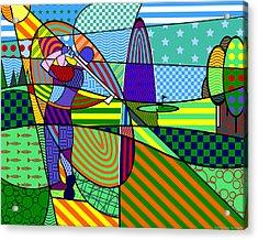 Golf Acrylic Print by Randall Henrie