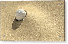 Golf Sand Trap Acrylic Print by Allan Swart