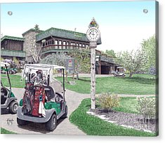 Acrylic Print featuring the painting Golf Seven Springs Mountain Resort by Albert Puskaric
