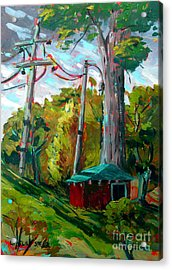 Golf Shed Series No 15 A Synthesis Acrylic Print by Charlie Spear