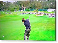 Golf Swing Drive Acrylic Print