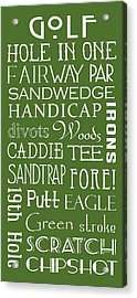Golf Terms Acrylic Print