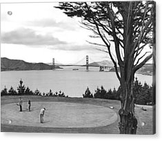 Golf With View Of Golden Gate Acrylic Print