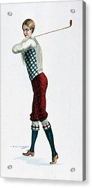Golfer, C1920 Acrylic Print by Granger