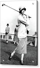 Golfer Joyce Wethered Acrylic Print