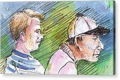 Golfers In Soufflenheim 01 Acrylic Print by Miki De Goodaboom