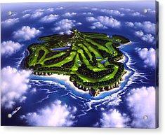 Golfer's Paradise Acrylic Print