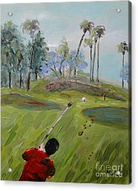 Golfing At Monarch Acrylic Print