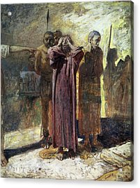 Golgotha, 1892-93 Oil On Canvas Acrylic Print by Ge