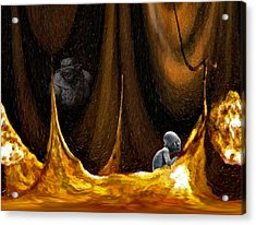 Gollum Shows The Way Acrylic Print by Steve Harrington