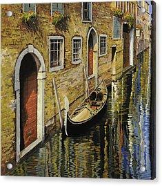 Gondola A Venezia Acrylic Print by Guido Borelli