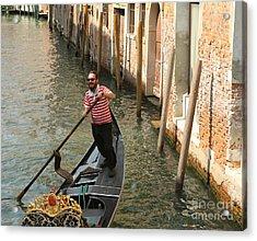 Gondola Man Acrylic Print