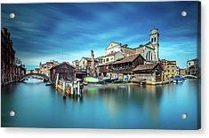 Gondola Workshop In Venice Acrylic Print