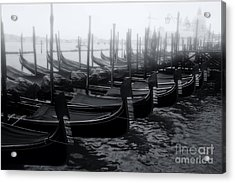Gondolas At The Piazza San Marco Venice Acrylic Print