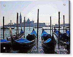 Gondolas Of Venice Acrylic Print