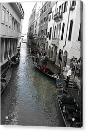 Gondolier Acrylic Print by Laurel Best