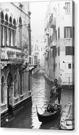 Gondoliers In Venice Acrylic Print by Dorothy Berry-Lound