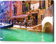 Gondoliers On Break Acrylic Print