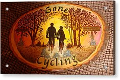Gone Cycling Acrylic Print by Dakota Sage