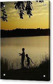 Gone Fishin' Acrylic Print by Mary Ely