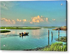 Gone Fishing Acrylic Print by Ed Roberts
