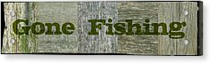 Gone Fishing Acrylic Print by Michelle Calkins