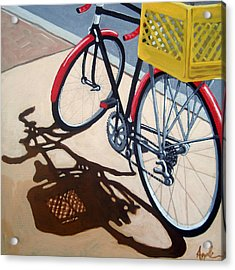 Gone Shopping Bicycle Acrylic Print by Linda Apple