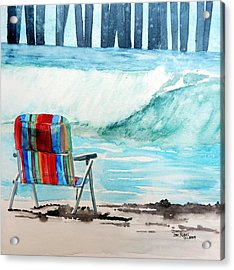Acrylic Print featuring the painting Gone Swimmin' by Tom Riggs
