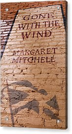 Gone With The Wind - Urban Book Store Sign Acrylic Print by Steven Milner