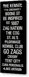 Gonzaga College Town Wall Art Acrylic Print by Replay Photos