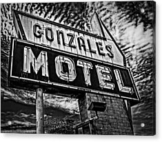 Gonzales Motel Sign Acrylic Print by Andy Crawford