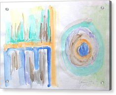 Acrylic Print featuring the painting Good Afternoon Abstract by Esther Newman-Cohen