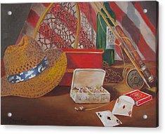 Acrylic Print featuring the painting Good Day Fishing by Tony Caviston
