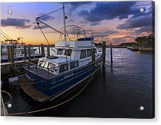 Good Fishing Acrylic Print by Debra and Dave Vanderlaan