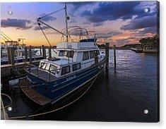 Good Fishing Acrylic Print by Debra and Dave Vanderlaan