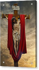His Ultimate Gift Of Mercy - Jesus Christ Acrylic Print by Luther Fine Art