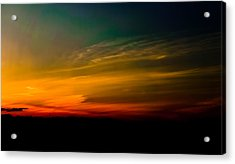 Good Friday Sunset Acrylic Print by Ronda Broatch