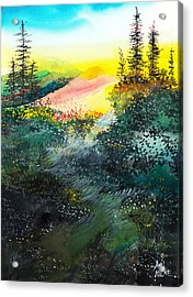 Good Morning 3 Acrylic Print by Anil Nene