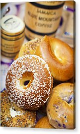 Good Morning Bagels Acrylic Print by Shanna Gillette