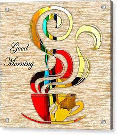 Good Morning Coffee Acrylic Print by Marvin Blaine