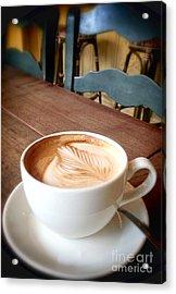 Good Morning Latte Acrylic Print by Susan Garren
