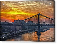 Good Morning New York Acrylic Print by Hanny Heim