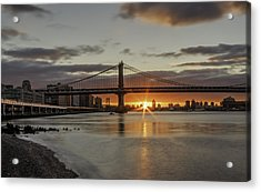 Acrylic Print featuring the photograph Good Morning Nyc  by Anthony Fields