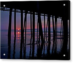 Good Morning Old Orchard Silhouette   Acrylic Print